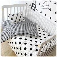 3Pcs Sets Baby Bedding Sets Customized Soft Crib Sets Cot Sheet Cotton Print Cot Sheet Quilt
