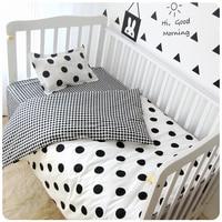3 Pçs/sets Conjuntos de Berço Conjuntos de Cama Macia Personalizado Folha de Berço Do Bebê algodão Estampado Cama Tampa Da Folha Da Colcha Travesseiro Caso Da Menina Do Menino roupa de cama
