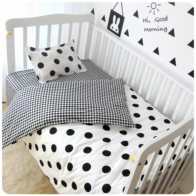 3Pcs/Sets Baby Bedding Sets Customized Soft Crib Sets Cot Sheet Cotton Print Cot Sheet Quilt Cover Pillow Case Girl Boy Bedding paisely print sheet set