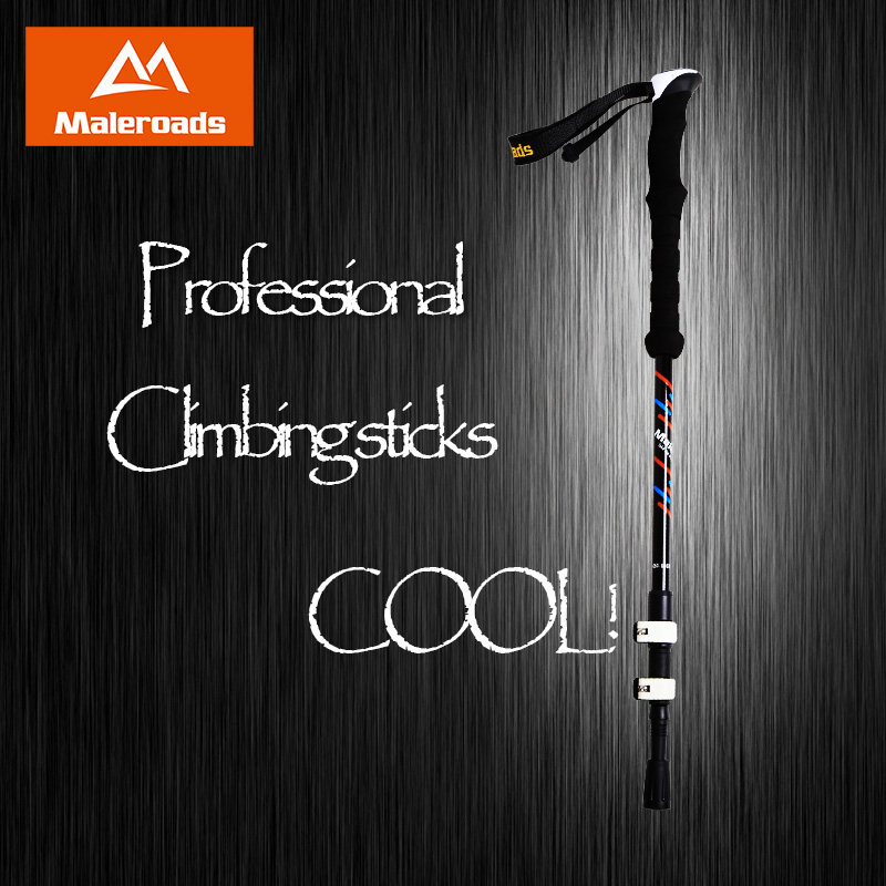 Maleroads Nordic Walking Sticks Hiking Pole Carbon Fiber Adjustable Alpenstock Trekking Sticks Climbing Walking Trekking Poles