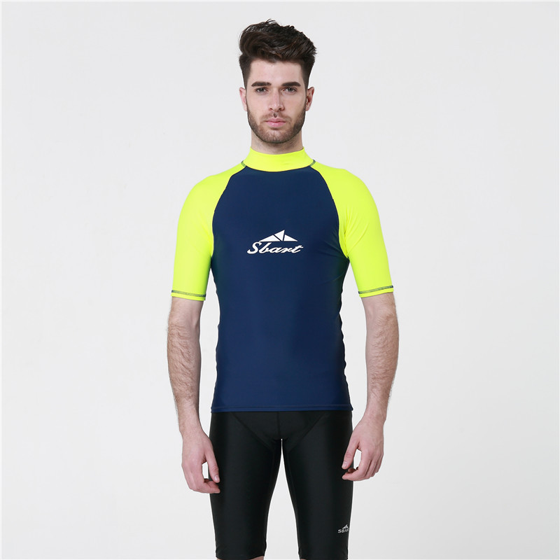Online Cheap Mens Rash Guard Swim Shirts Group