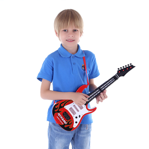 Image 2 - High Quality Hot 4 Strings Music Electric Guitar Kids Musical Instruments Educational Toys For Children Christmas New Year Gifts