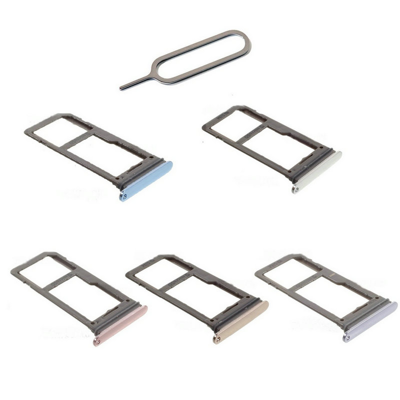 OEM SIM/Micr SD Memory Card Tray Holder With Eject Pin For Samsung Galaxy S8 SM-G950F/S8 Plus S8+ SM-G955F (Single SIM Version)