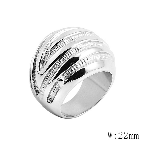 BG-33 Classic Lover's Finger Ring High Quality Stainless Steel Round Charm Lover Couple Best Gift Ring Casual Party Ring