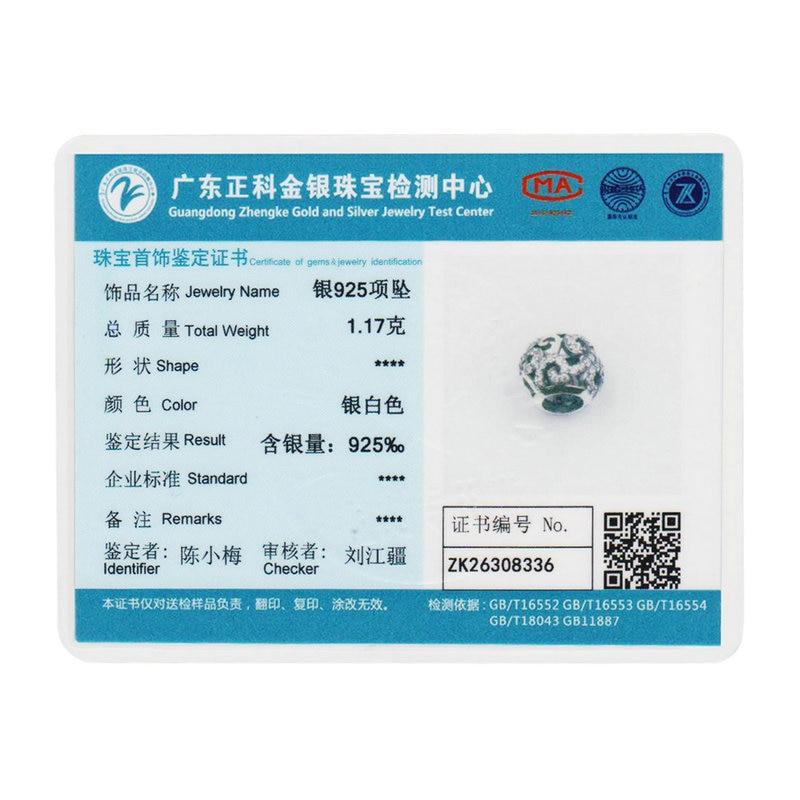 BAMOER Brand Hotsale 925 Sterling Silver Crystal Round Charms Passar - Märkessmycken - Foto 6