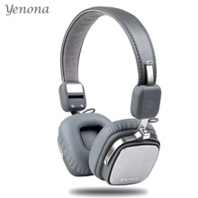 Yenona Bluetooth Headphone Bluetooth 4.1 Wireless Headset Over Ear Metal Stereo Headsets HandsFree Headphones with Microphone