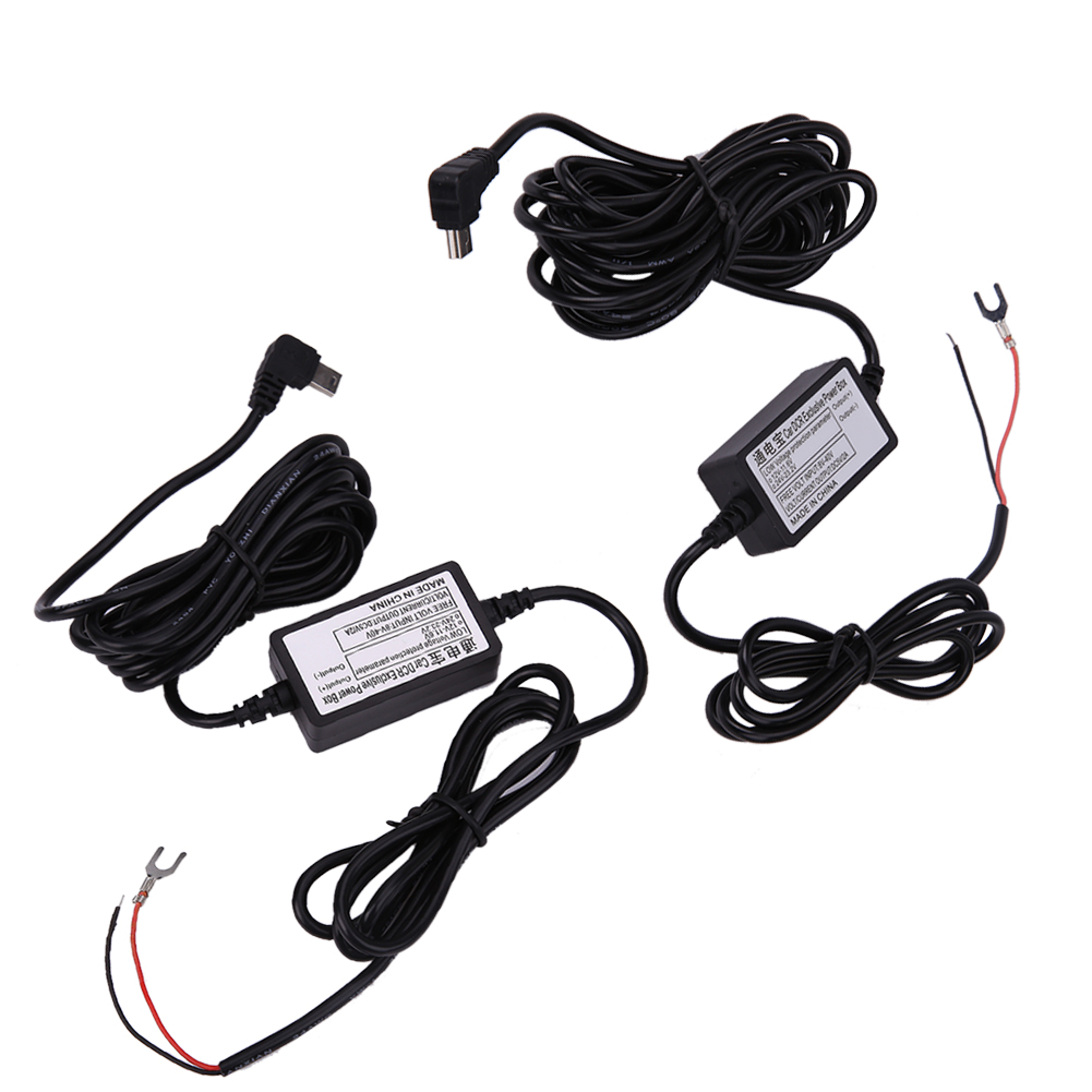 DC <font><b>12V</b></font> to 5V 2A 3M 4M <font><b>Car</b></font> Charger <font><b>Cable</b></font> Mini <font><b>USB</b></font> Hardwire Charger Cord Auto Charging Kit for Dash Cam Camcorder Vehicle <font><b>DVR</b></font> image