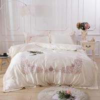 European Luxury Bedding Sets Long Staple Egyptian Cotton Duvet Cover Pillowcases Bed Clothes Jacquard Bed Linen Queen King