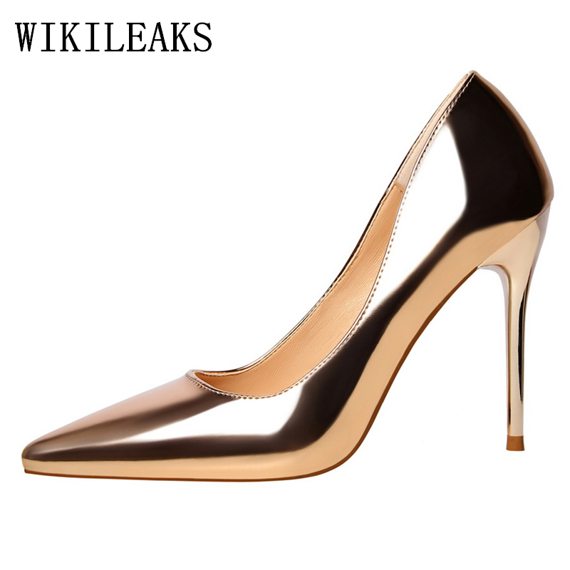 ladies wedding shoes bride woman pumps women shoes high heel gold pink sexy high heels bigtree shoes sapato feminino stiletto