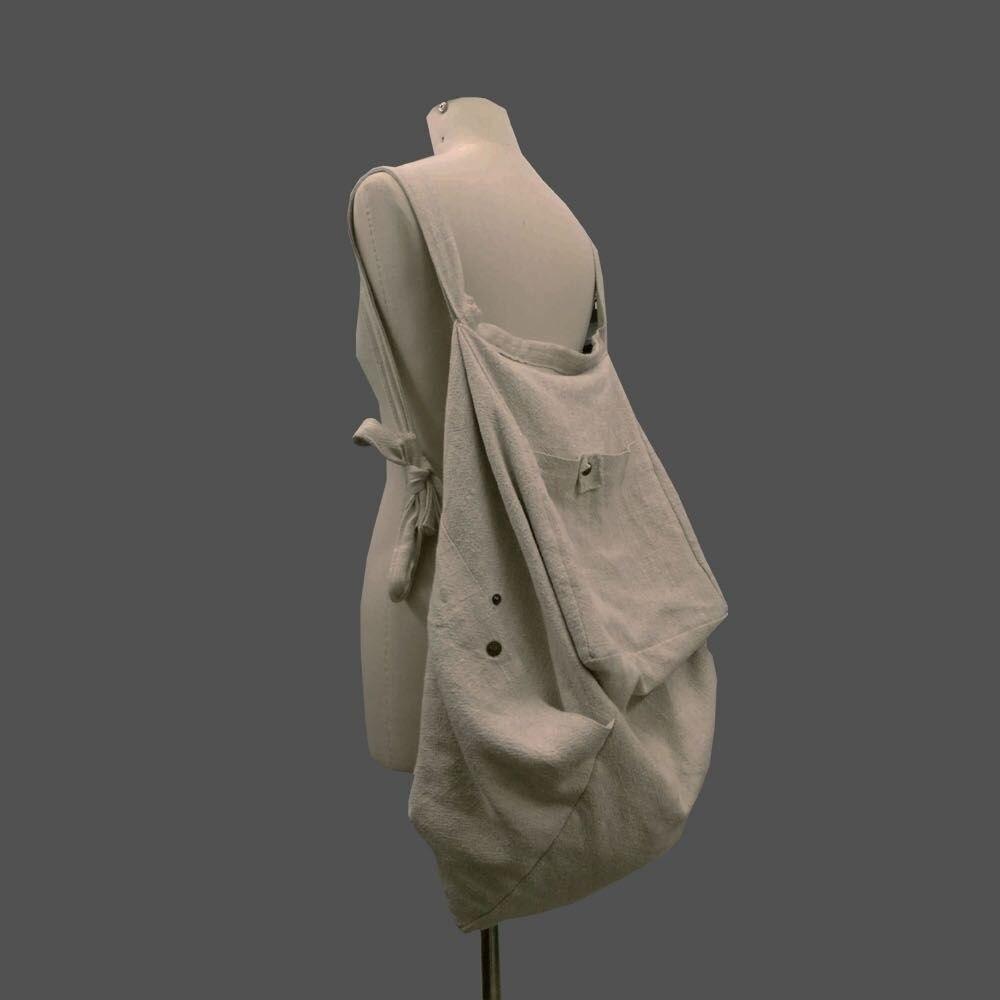 WOMEN Large Canvas Backpack Ladies National Handmade Big Bags Fluid Shoulder Bags Vintage Bags