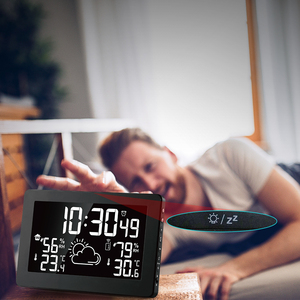 Image 4 - Protmex PT3378A Weather Station, Wireless Indoor Outdoor Thermometer Hygrometer Digital Alarm Clock Barometer Forecast