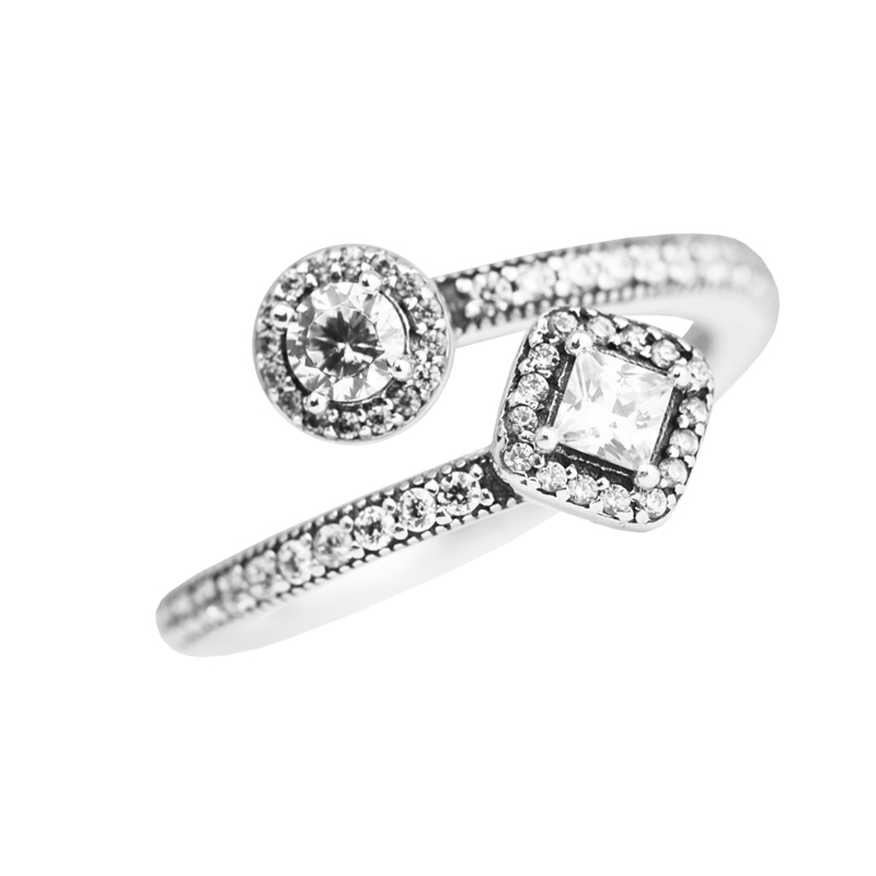 e4f6cf5ba Abstract Elegance Rings with Clear CZ 100% 925 Authentic Sterling Silver  Fine Jewelry Free Shipping-in Rings from Jewelry & Accessories on  Aliexpress.com ...