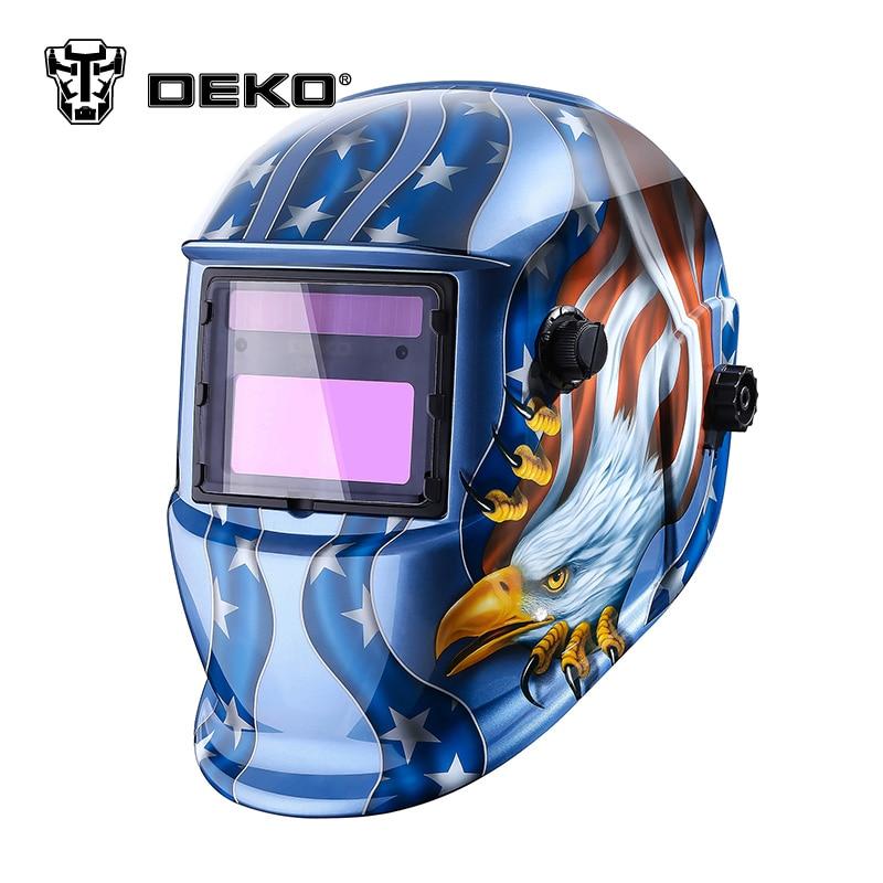 DEKOPRO Eagle Solar Auto Darkening  MIG MMA Electric Welding Mask/Helmet/Welding Lens for Welding Machine or Plasma Cutter цена и фото