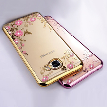 Роскошные ТПУ оригинальный телефон Coque чехол для Samsung Galaxy C5 C7 C9 Pro кремния силиконовый прозрачный алмаз аксессуары C 5