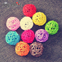 Buy 50pcs Rattan Wicker Cane 5cm Ball for Garden Pat online