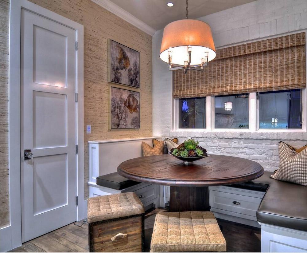 2017 New Shaker Style Highly Durable  Square Profiles Solid Wood Door Paint Grade Interior Wood Door Closet Doors ID1606013