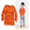 2015 spring children cardigan baby boys girls full sleeve cardigan sweater kid's candy color open stitch outerwear