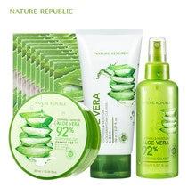 Nature Republic Natural Aloe Moisturizing Oil Control Set Vera Face Mask Toner Cleaner Korean Skin Care