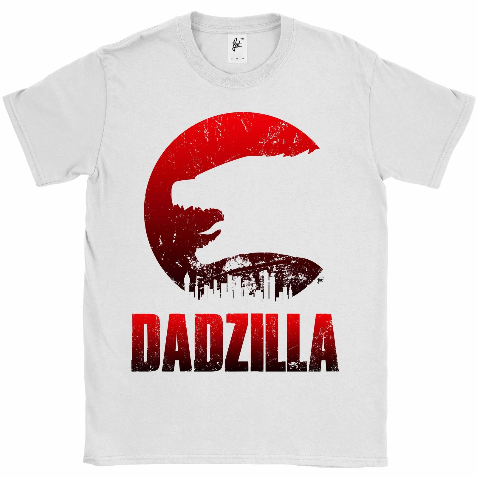 Scary Monster Dadzilla Fathers Day Present Mens T-Shirt T-Shirt Male Hipster Tops