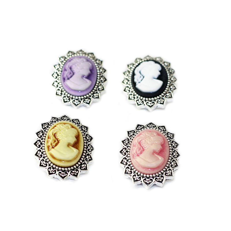 2 styles 10pcs/Lot Mix 18mm Metal Snap Button Charm Rhinstone Ginger Button For Snap Jewelry Fit DIY Snaps Bracelets BG54 image
