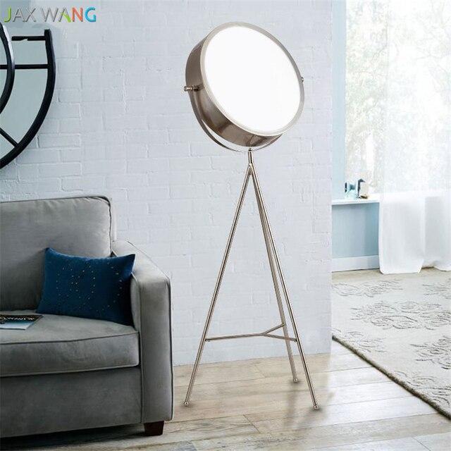 Nordic Creative Iron Tripod Floor Lamps Led Standing Lights Modern Living Room Lamp Bedroom Bedside Study
