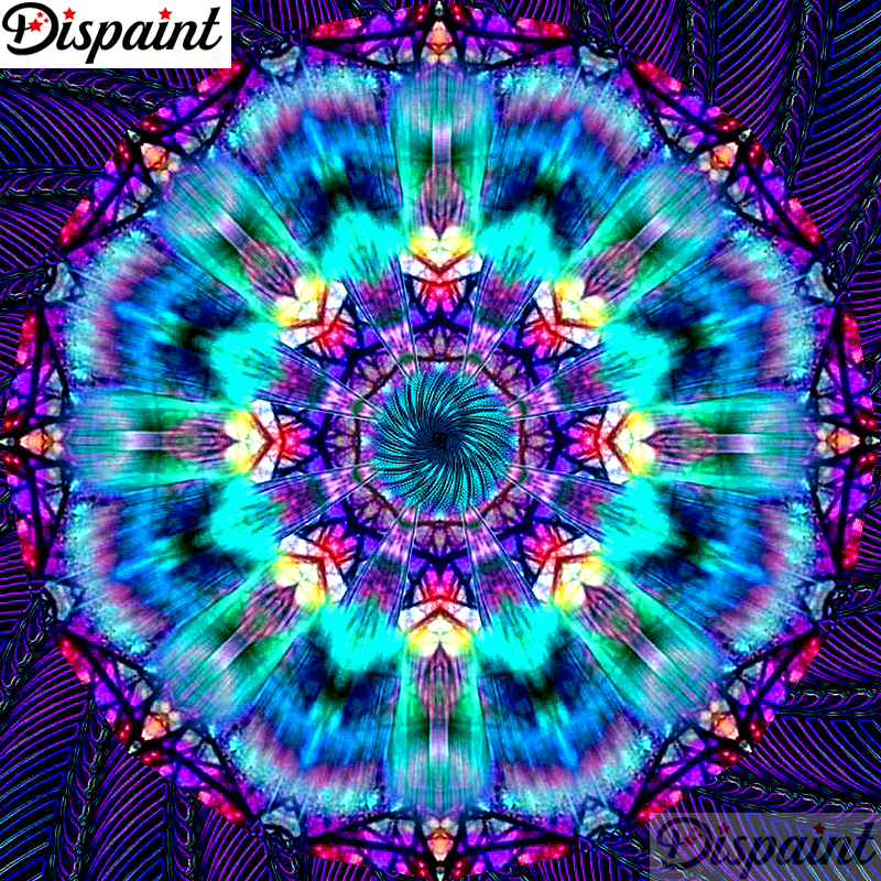 Dispaint Full Square Round Drill 5D DIY Diamond Painting quot Mandala scenery quot 3D Embroidery Cross Stitch 5D Home Decor A10828 in Diamond Painting Cross Stitch from Home amp Garden