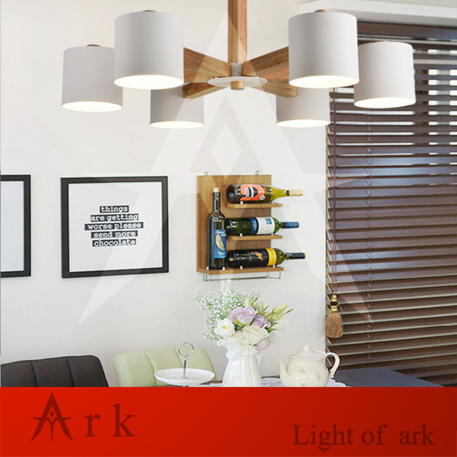 ARK LIGHT Nordic WOOD LED CEILING LAMP Chandelier E27 With Iron Lampshade For Living Room Suspendsion Lighting FixturesARK LIGHT Nordic WOOD LED CEILING LAMP Chandelier E27 With Iron Lampshade For Living Room Suspendsion Lighting Fixtures