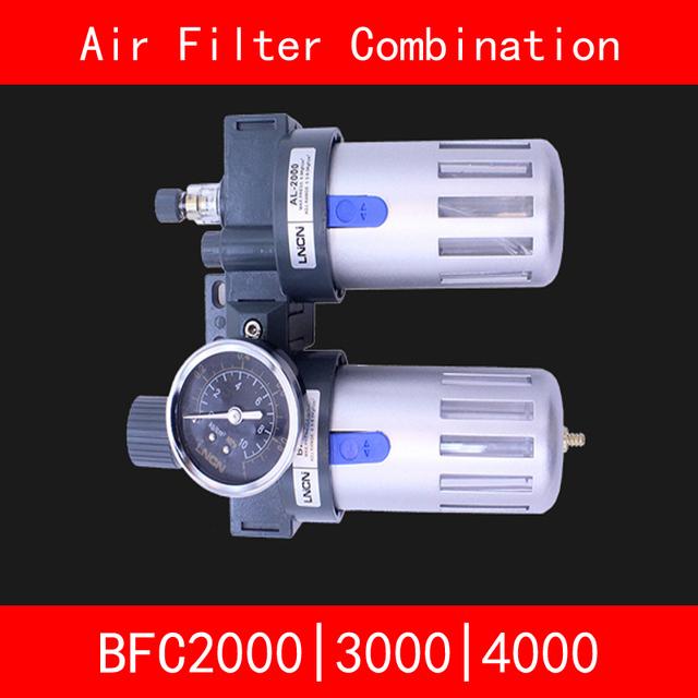 "BFC2000 BFC3000 BFC4000 Air Filter Combination Port Size 1/4"" 3/8"" 1/2"" Pneumatic Source Treatment Unit BFR + BL Lubricator"
