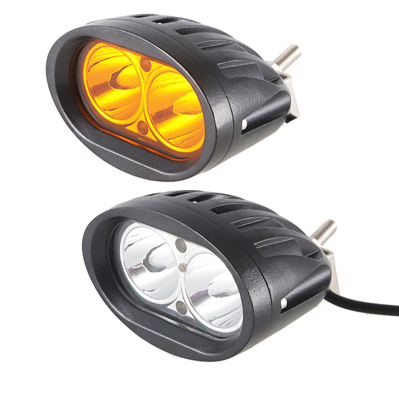 20W Super Bright Waterproof Spotlights 12V 24V Working Light Daytime Running Lights For Trucks Engineering Vehicles Fishing Boat
