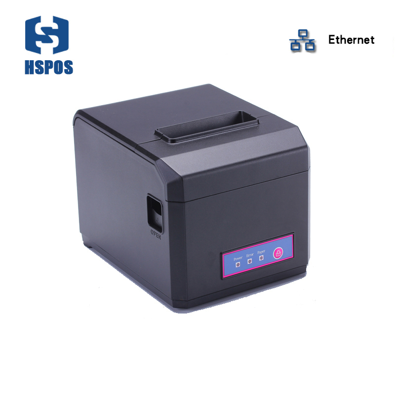 High quality 80mm impressora termica with lan interface pos receipt printer support windows linux drivers desktop printer cutter рыбы серия