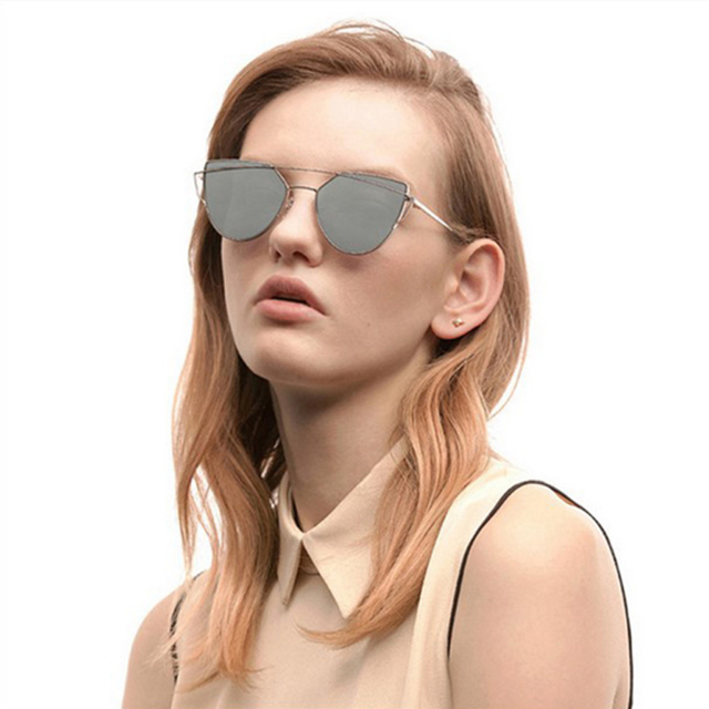 Fashion Brand Sunglasses For Women Glasses Cat Eye Sun Glasses Male Mirror Sunglasses Men Glasses Female Vintage Gold Glasses