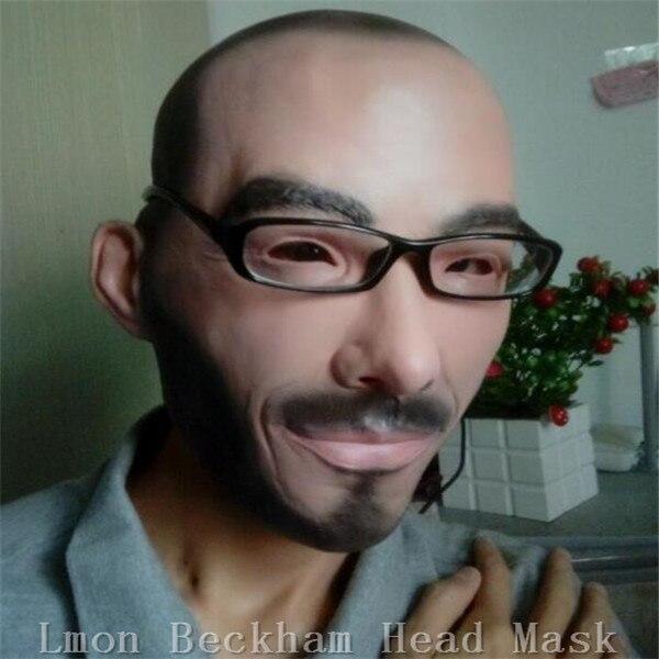 무료 배송 할로윈 파티 코스프레 Famous Man David Beckham 페이스 마스크 라텍스 파티 리얼 인간 페이스 마스크 Cool realistic mask