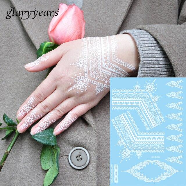 1 Pc Wanita Tato Tangan Leher Tubuh Henna Art Rantai Perhiasan Untuk