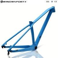 29er карбоновая горная велосипедная Рама 27.5er MTB карбоновая рама 29er Размер XS/S/M/L сквозная ось 142x12 диск углеродный велосипед frameset