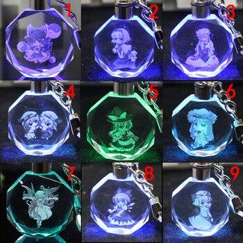 Аниме брелок светодиодный кристалл Touhou Project в ассортименте