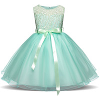 Cute Baby Wedding Flower Dresses Kids Teen Girls Princess Party Clothing Formal Clothes For Girls Tulle