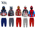 2016 Autumn Two-Piece Suit Clothing Set Spiderman Thor Captain America Iran Man Clothes Sport Suits For Boys Girls Tracksuits