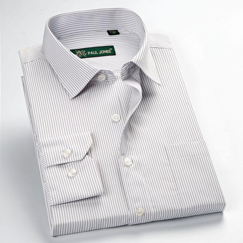 New plus size long sleeve striped men dress shirts Men's Polo Shirts