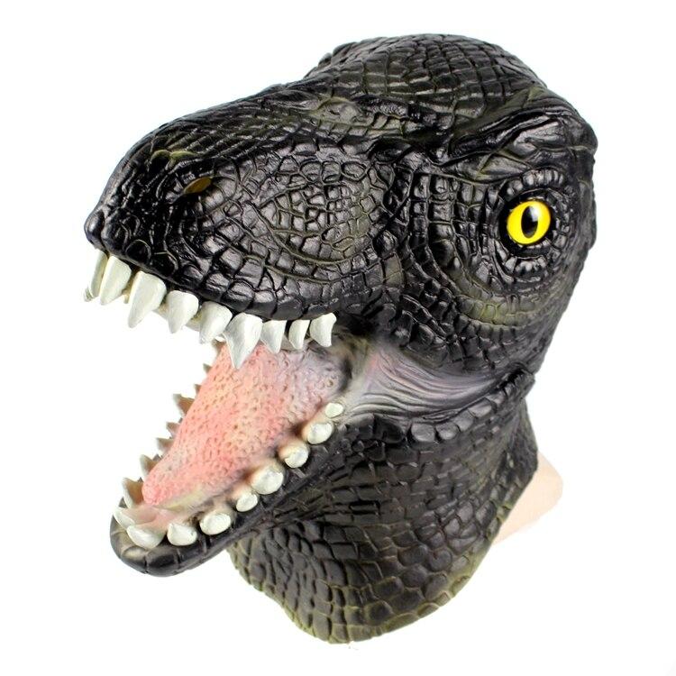 2018 Movie Jurassic World Blue Velociraptor Dinosaur Cosplay Mask Animal Full Head Latex Helmet Halloween