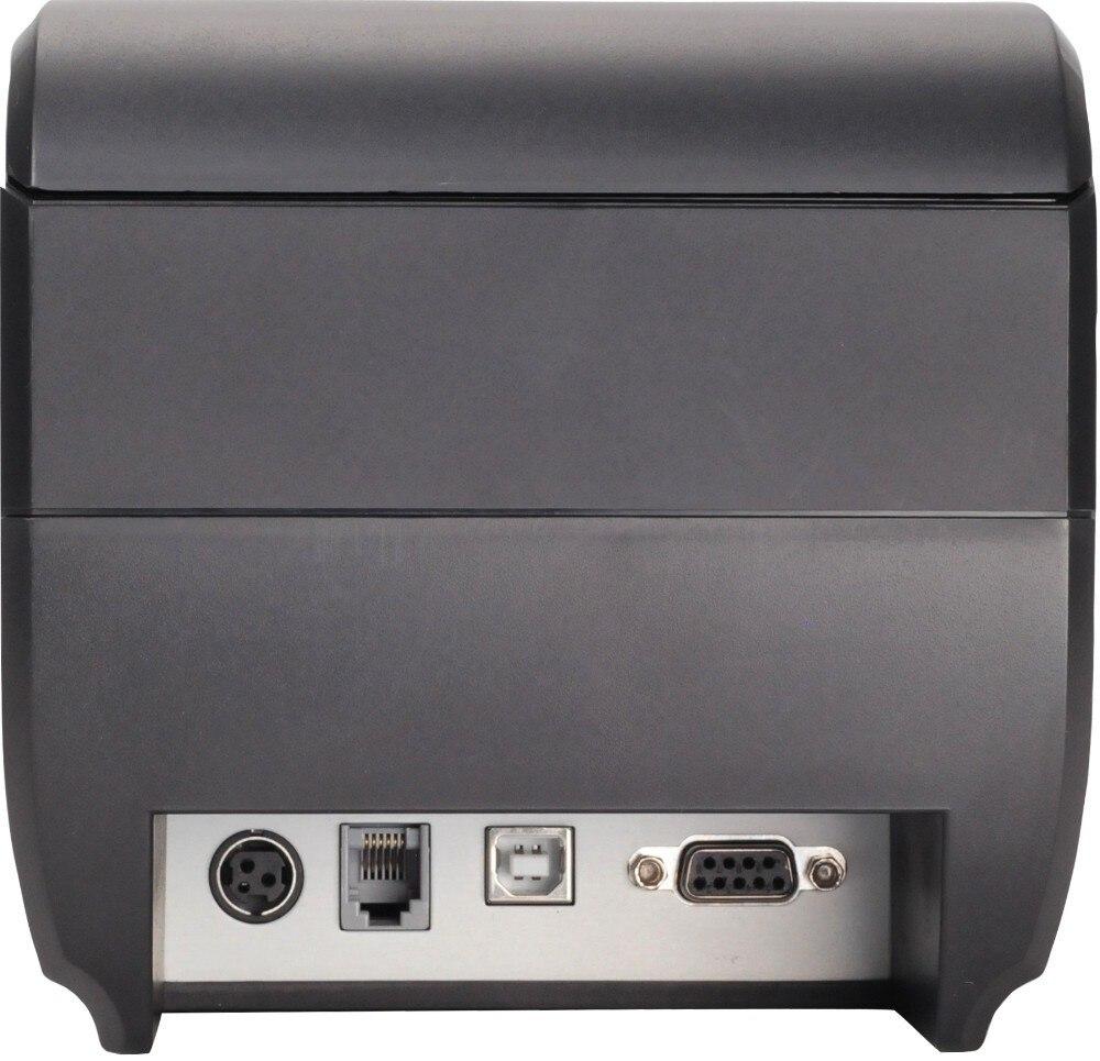Les sorties d'usine pos imprimante de Haute qualité 80mm thermique réception imprimante automatique de coupe USB + port Série/Ethernet ports