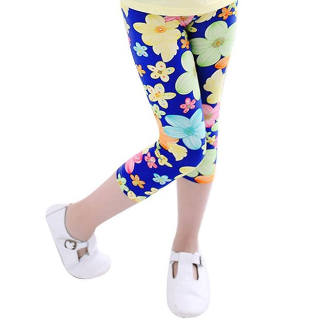 ac67f6e5417c1 2017 Hot Summer Girls Kids Printed Leggings Pants Children Trousers Baby  Girl Flower Leggings Toddler Girls Leggings