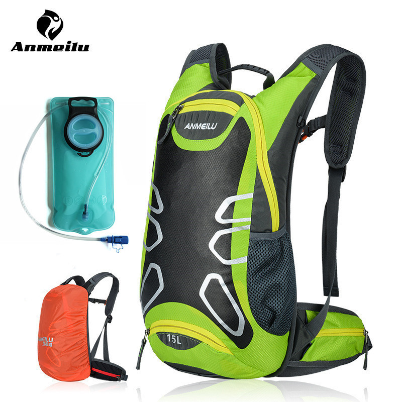 ANMEILU 15L Sports Water Bags Hydration Bladder Pack Cycling Backpack Outdoor Climbing Camping Hiking Bicycle Bike Bag Camelback roswheel 22l ultralight cycling mountain bike bag hydration pack water backpack reflective bicycle bike hiking climbing pouch
