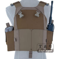 EmersonGear MBAV Plate Carrier PC Tactical Vest Body Armor Emerson Low Version MBAV Fits Chest Rig w/ Magazine Pouch