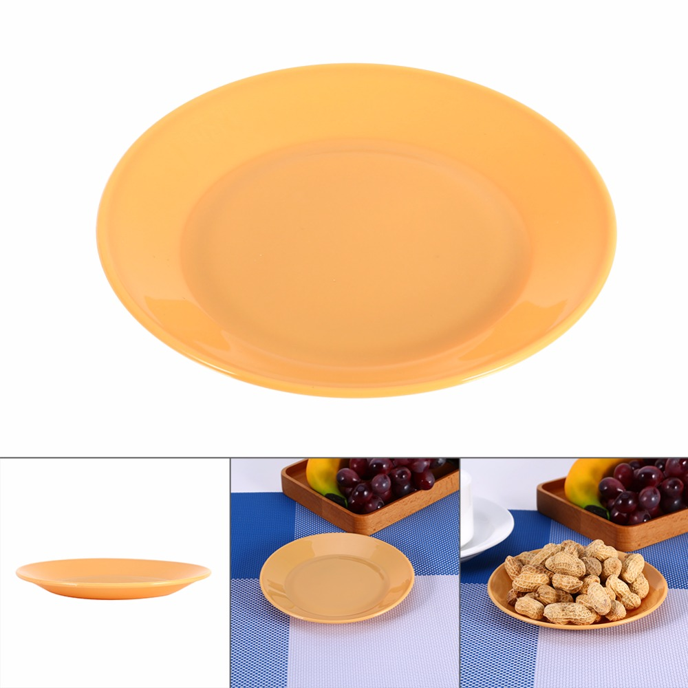 W 5Pcs Food grade Plastic Snack Dish Colorful Tableware Saucer Flat Plate Snack Seeds Kitchen Supplies Dishes Plates new-in Dishes \u0026 Plates from Home ...  sc 1 st  AliExpress.com : colored dishes dinnerware - pezcame.com