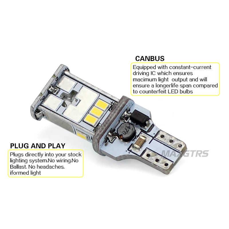 1000lm t15 led canbus no error free bulbs led backup light 921 912 w16w led  bulbs