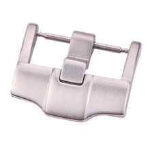 Wholesale 10pcs/Set Solid Stainless Steel Watch Buckle Silver Brushed 18mm 20mm 22mm 24mm WatchBand Strap Metal Clasp new 22mm top grade brushed stainless steel watchband bands strap with double push clasp buckle for mens strap bracelet