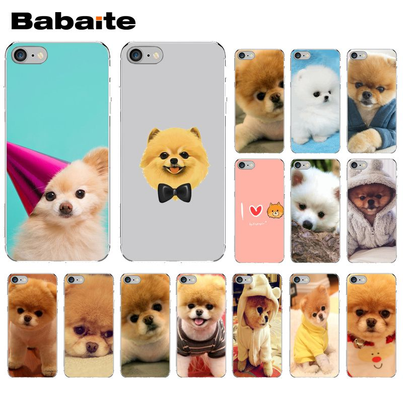 Us 1 0 11 Off Babaite Pomeranian Dog Customer High Quality Phone Case For Apple Iphone 8 7 6 6s Plus X Xs Max 5 5s Se Xr Cellphones In Half Wrapped