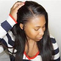 180% шелк база парик бразильские прямо предварительно сорвал полное кружева парики человеческих волос с ребенком волос для Для женщин реми в