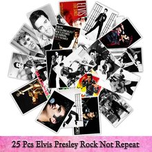 25pcs/pack Rock Music Dancer Elvis Presley Graffiti Sticker Toys The Suitcase Laptop Fridge Stickers Cool Waterproof Sticker(China)