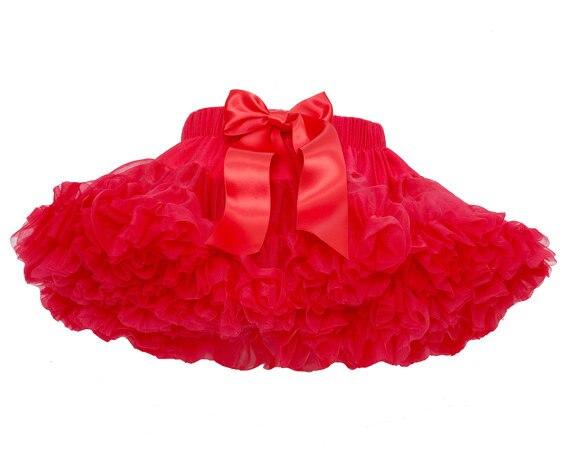 Юбка для маленьких девочек; детская Пышная юбка-американка для девочек; винно-красная юбка-пачка; детская юбка; пышная юбка-пачка для маленьких девочек; - Цвет: Красный